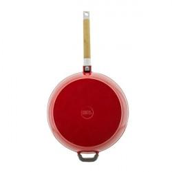 Сковорода чугунная эмаль (красный)