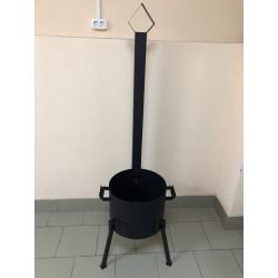 2 мм Печь под казан 10-12 литров с трубой, заслонкой и дверцей