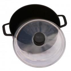 Антипригарная кастрюля со стеклянной крышкой (5л)
