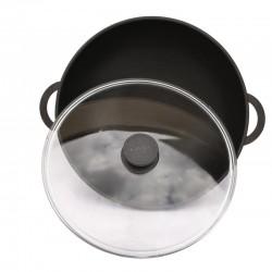 Сковорода ВОК (WOK) с антипригарным покрытием 32 см со стеклянной крышкой БИОЛ